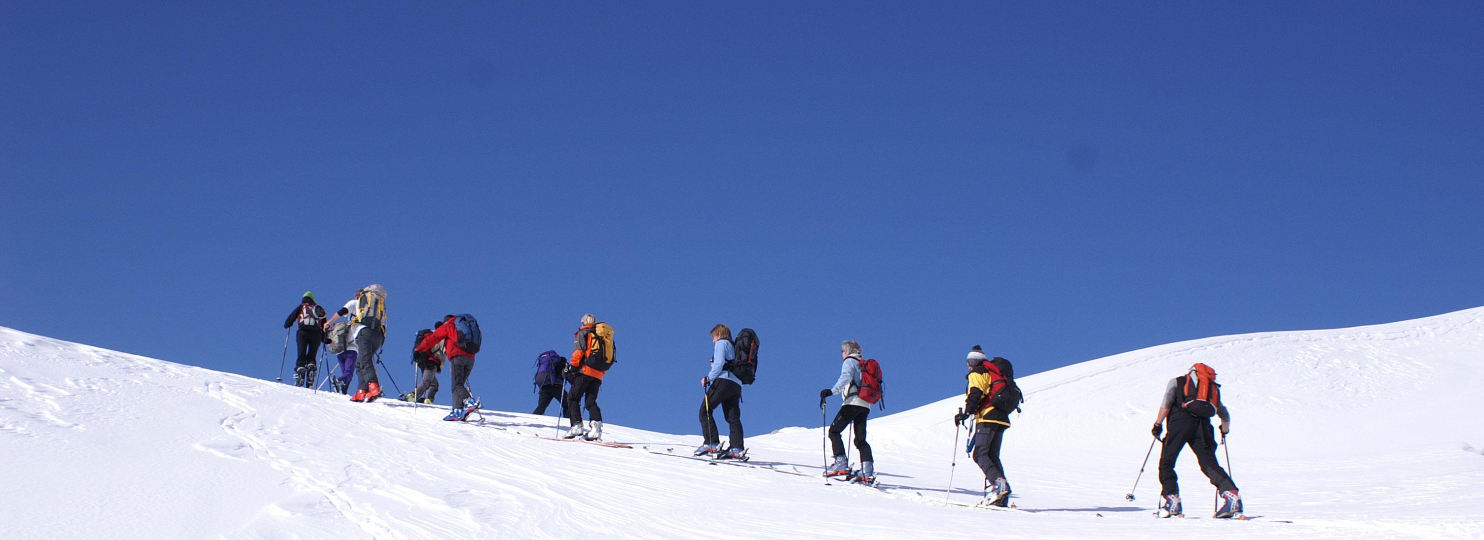 Gef�hrte Schneeschuh-/ Skitouren