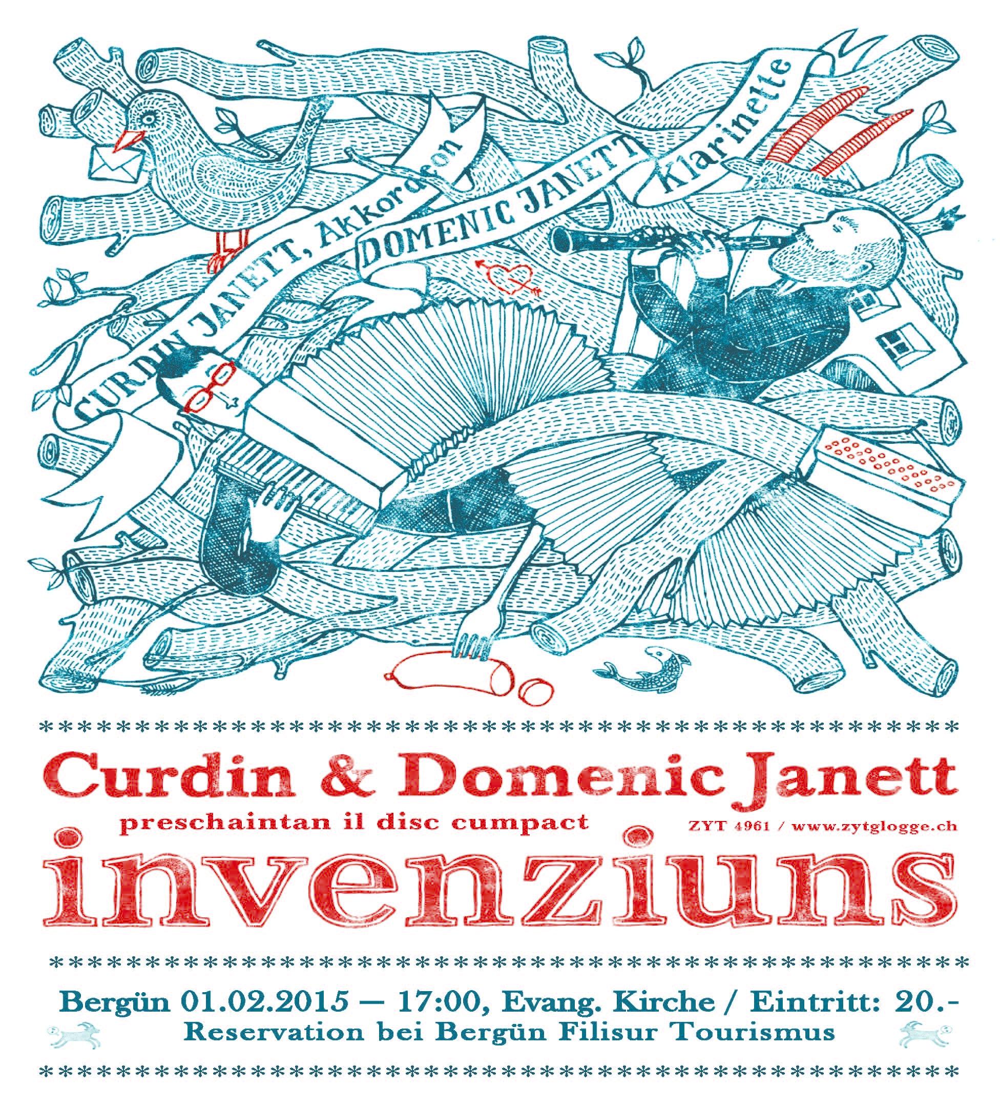 Konzert Curdin und Domenic Janett - Invenziuns