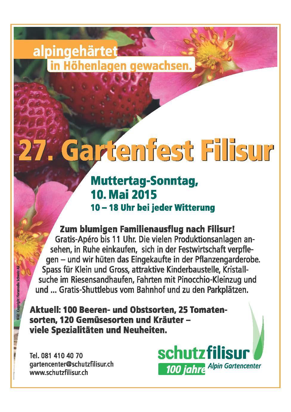 27. Gartenfest in Filisur