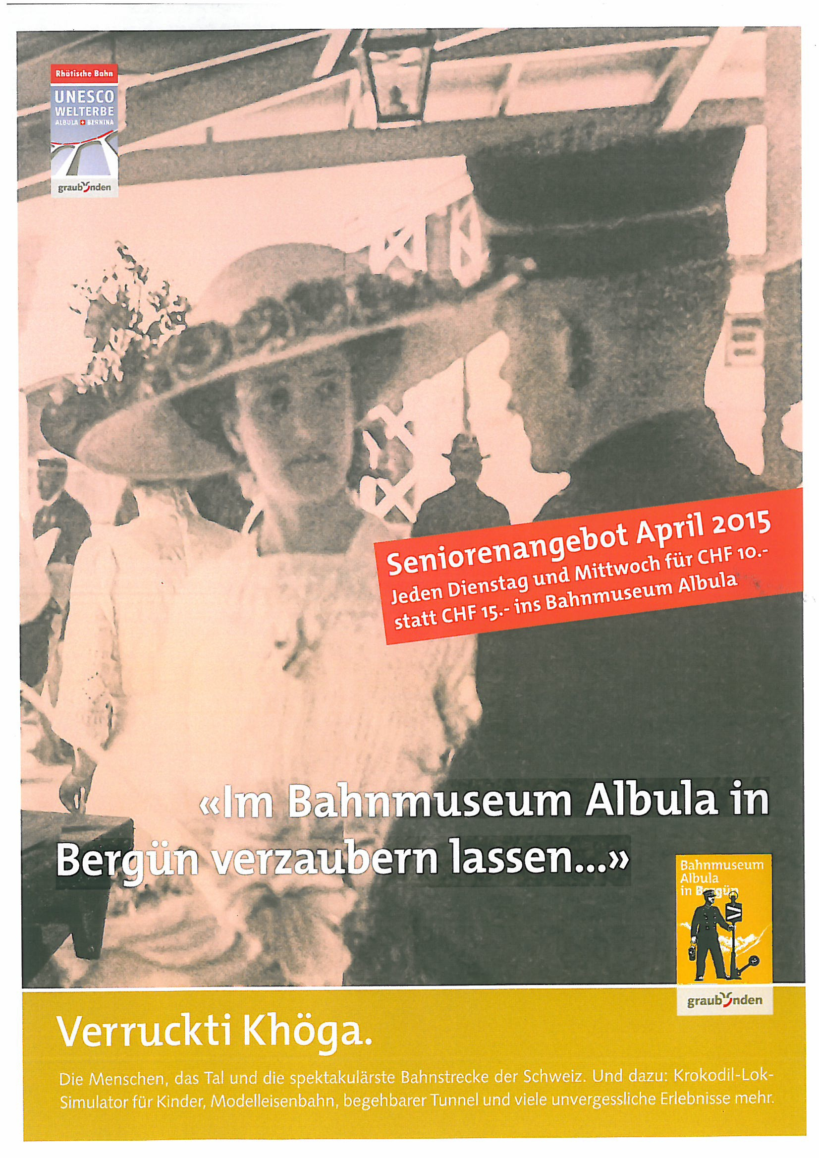 Seniorenangebot im Bahnmuseum Albula