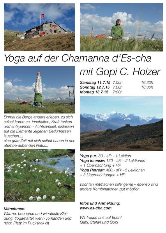 Yoga auf der Chamanna d'Es-cha