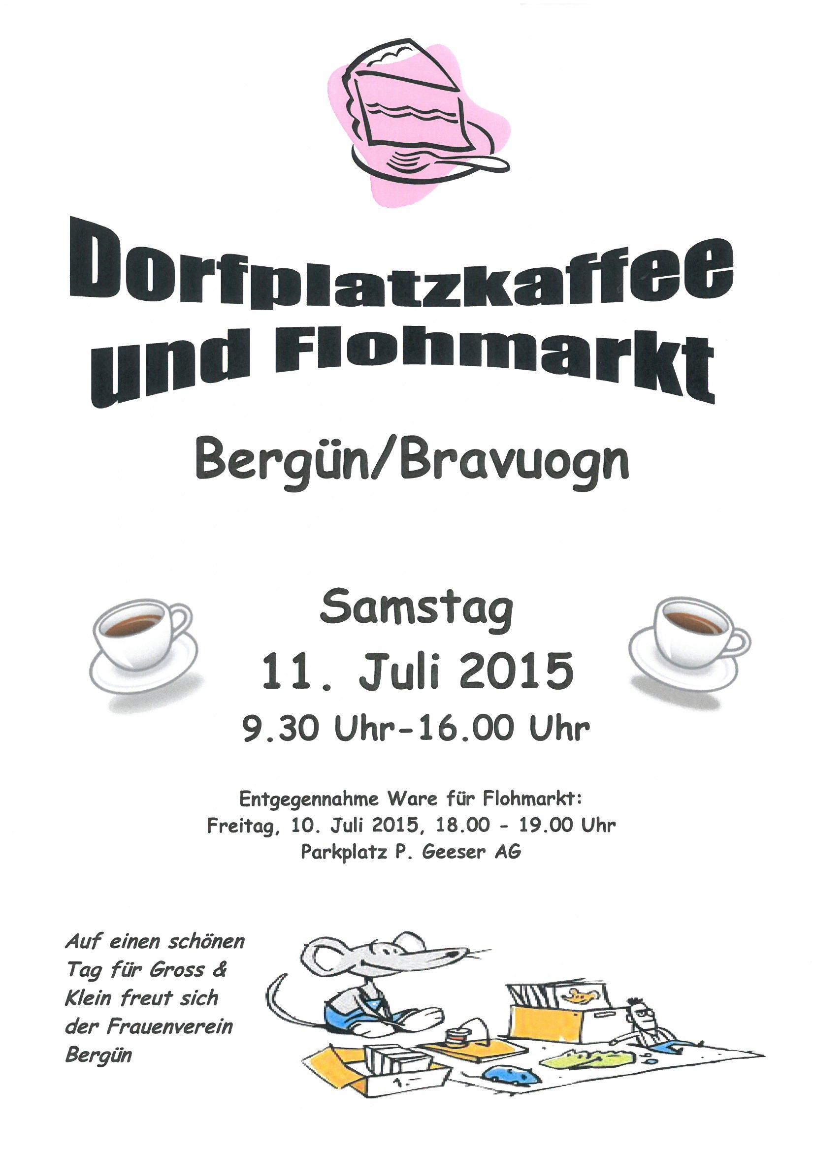 Dorfplatzkaffee und Flohmarkt