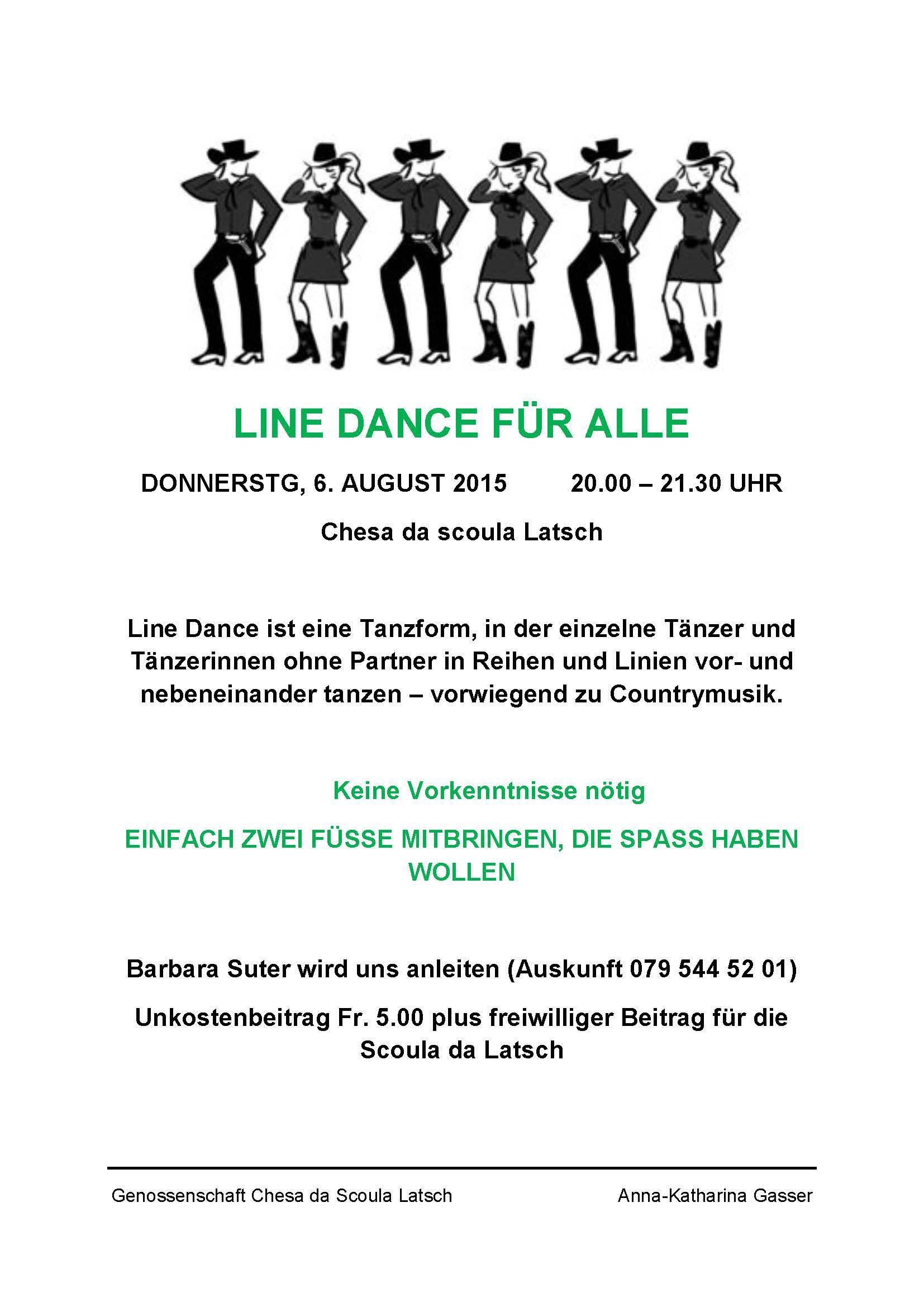 Line Dance f�r alle