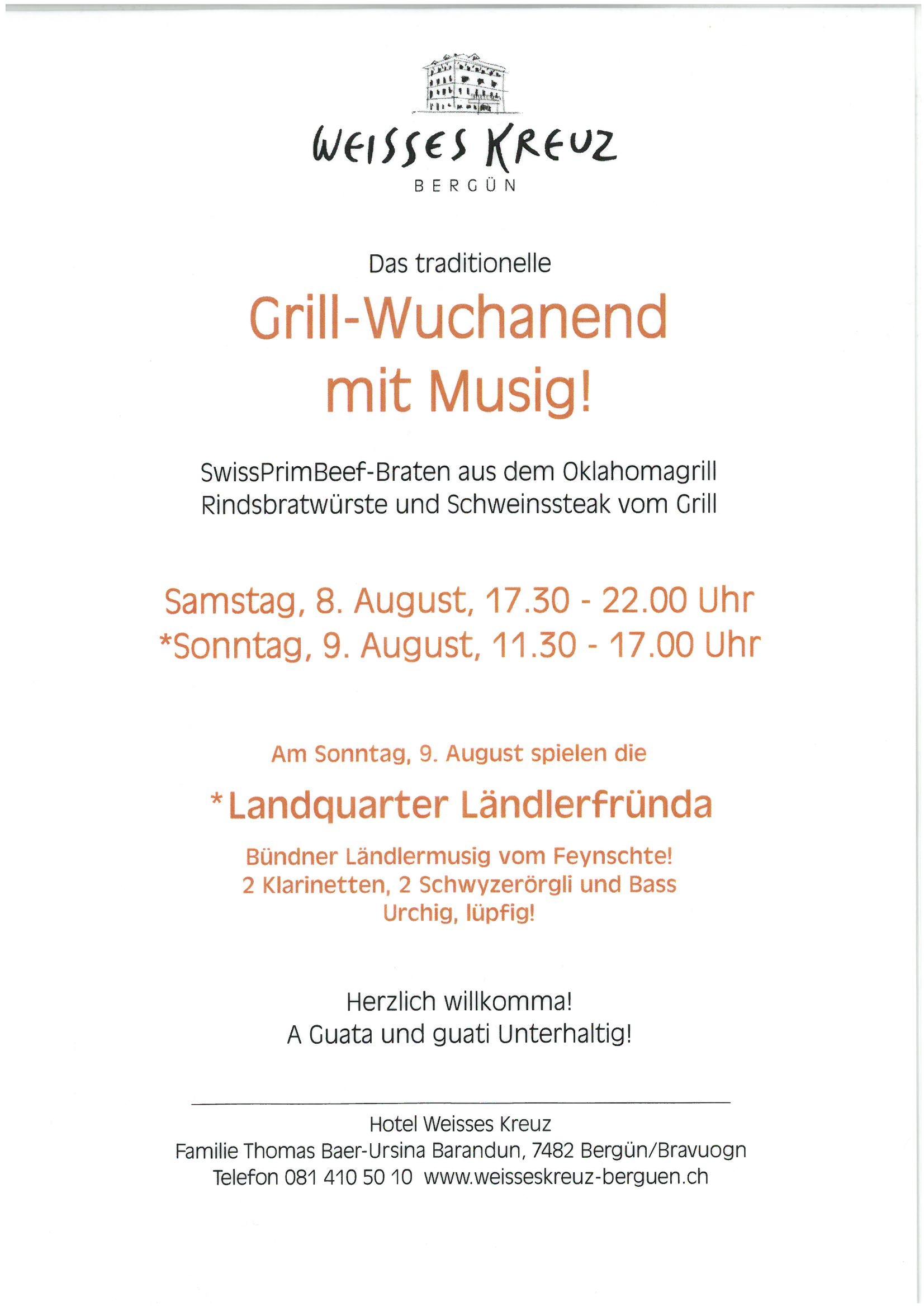 Grill-Wuchanend