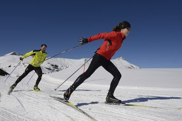 Skating Gleitphasen & Position Ski
